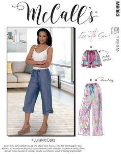 McCALL´s kaava M8063 Sorts and Pants