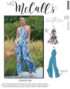 McCALL´s kaava M8069 Romper, Jumpsuits and Belt