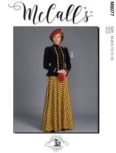 McCALL´s kaava M8077 Historical Jacket and Skirt