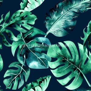 Digiprintti trikoo Tropical Leaves