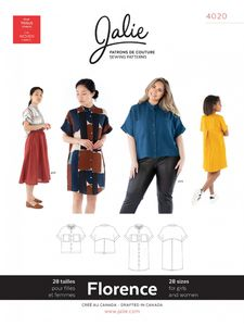 Jalie kaava 4020 Florence Shirt and Shirtdress