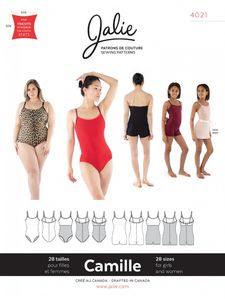 Jalie kaava 4021 CAMILLE Cami Leotard and Biketard