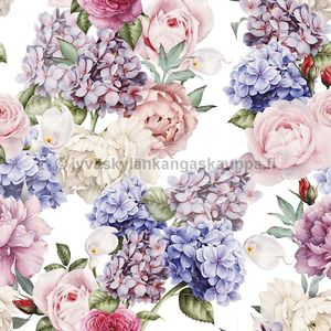 Digiprintti trikoo Water Colour Hortensia