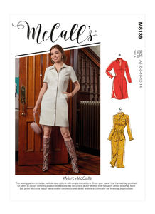 McCALL´s kaava M8139 Dresses and Belt