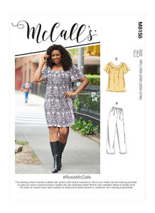 McCALL´s kaava M8158 Plus Size Dresses, Shorts and Capri Pants