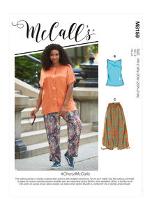 McCALL´s kaava M8159 Plus Size Shirt, Top, Skirt and Pants