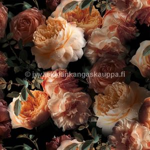 Digiprintti trikoo Autumn Roses