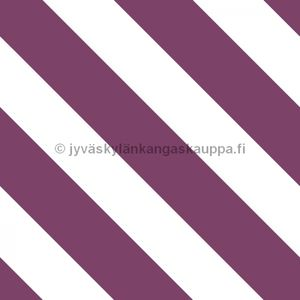 Digiprintti trikoo Diagonal Stripes BERRY
