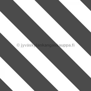 Digiprintti trikoo Diagonal Stripes DARK GREY
