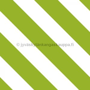 Digiprintti trikoo Diagonal Stripes GRASS GREEN