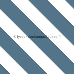 Digiprintti trikoo Diagonal Stripes TEAL