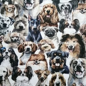 Digiprintti trikoo Water Colour Dog Breeds