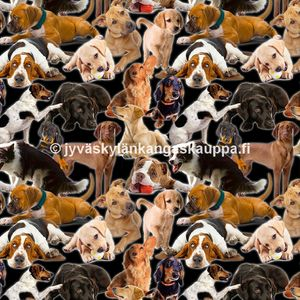 Digiprintti trikoo Doggies