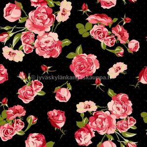 Digiprintti trikoo Fifties Rose (1m valmispala)
