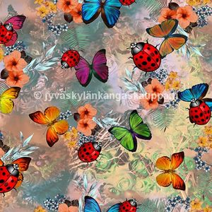 Digiprintti trikoo Bugs and Butterflies