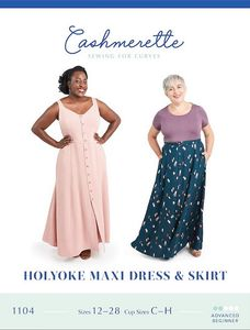 Cashmerette kaava 1104 Holyoke maxi dress and skirt
