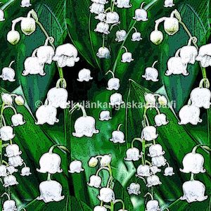 Digiprintti trikoo Lily of the Valley GREEN