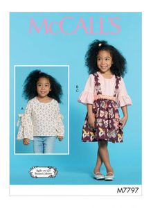 McCall's kaava M7797 Girls Tops and Skirt