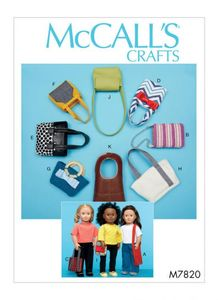 McCALL´s kaava M7820 Bags For Dolls