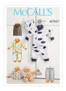 McCALL´s kaava M7827 Infants Bunting, Jacket, Vest, Pants and Hat