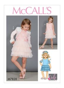 McCALL´s kaava M7828 Girls Bolero and Dresses
