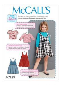 McCALL´s kaava M7829 Girls Tops and Jumpers