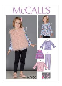 McCALL´s kaava M7830 Girls Tunic Tops, Vest and Leggings