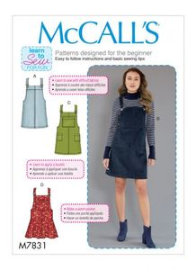 McCALL´s kaava M7831 Pinafore Dress (VARASTO)