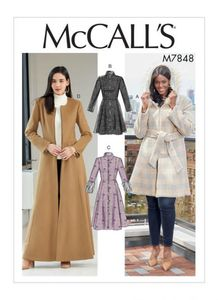 McCALL´s kaava M7848 Coats and Belt