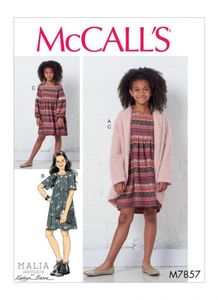 McCALL´s kaava M7857 Girls Sweater and Dresses