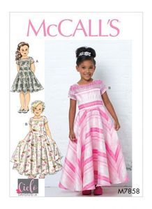 McCALL´s kaava M7858 Girls Dresses, Train and Bow