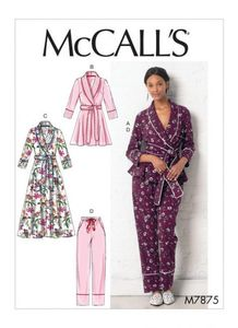 McCALL´s kaava M7875 Jacket, Robe, Pants and Belt