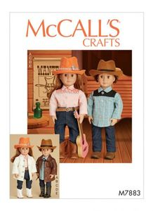 McCALL´s kaava M7883 Clothes, Hat and Belt For Doll