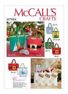 McCALL´s kaava M7884 Holiday Gift Bags