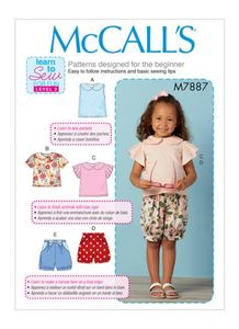 McCALL´s kaava M7887 Toddler Tops and Shorts