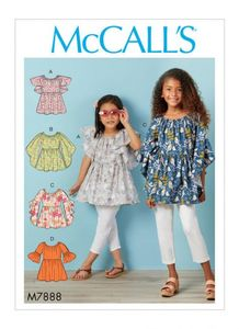 McCALL´s kaava M7888 Girls Tops