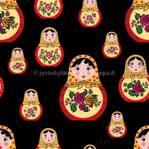 Digiprintti trikoo Matryoshka Doll