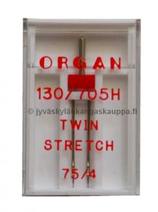 ORGAN kaksoisneula TWIN STRETCH 75/4