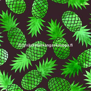 Digiprintti trikoo Pineapple