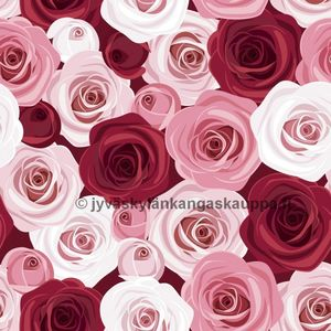 Digiprintti trikoo Pink Rose