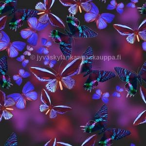 Digiprintti trikoo Purple Butterfly