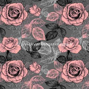 Digiprintti trikoo Romantic Pink Roses