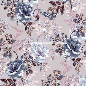 Digiprintti trikoo Romantic Bloom Mauve
