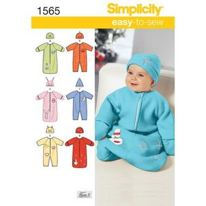 Simplicity kaava S1565 Baby Sleeping Bag, Romper and Hats