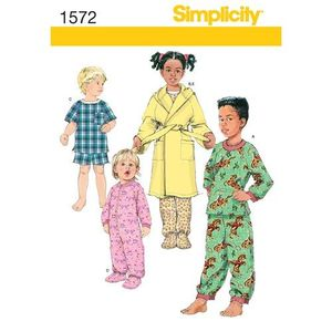 Simplicity kaava S1572 Toddler and Child Loungewear and Robe