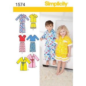 Simplicity kaava S1574 Toddler Loungewear and Robe