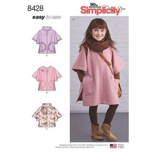Simplicity kaava S8428 Child Poncho in Two Lengths