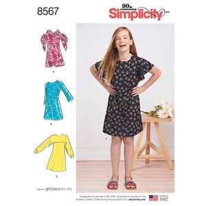 Simplicity kaava S8567 Girls and Girls Plus Dress