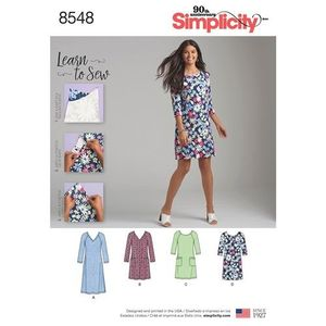 Simplicity kaava S8548 Knit Dress