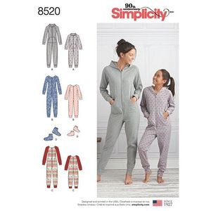 Simplicity kaava S8520 Girls and Misses Jumpsuits and Booties